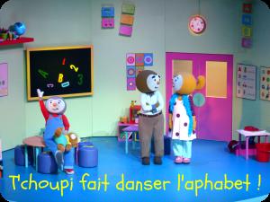t'choupi fait danser l'alphabet 2014