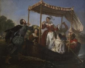 Tableau représentant,t les adieux du roi Henri IV à Gabrielle d'Estrées